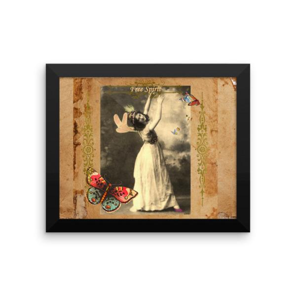 Free Spirit Vintage Fairy Framed poster