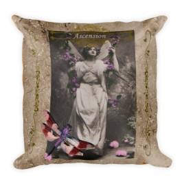 Ascension Vintage Fairy Square Pillow