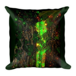 Telepathic Tree Ent's Square Pillow
