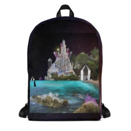 Inner Earth Crystal Palace Digital Art Backpack