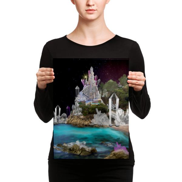 Inner Earth Crystal Clinic Digital Art on Canvas