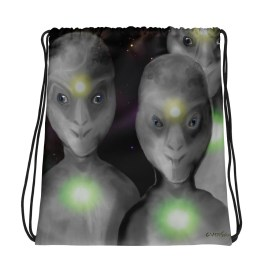 A Few Visitors Drawstring bag