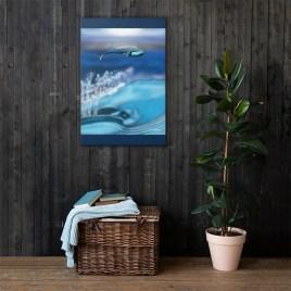 Whale Consciousness Canvas