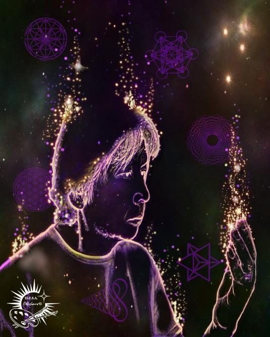 Living Light Spirit Activation Art By Chris Disano