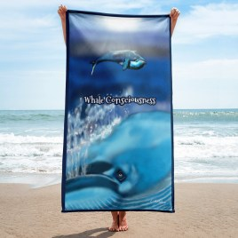 Whale Consciousness Beach Towel