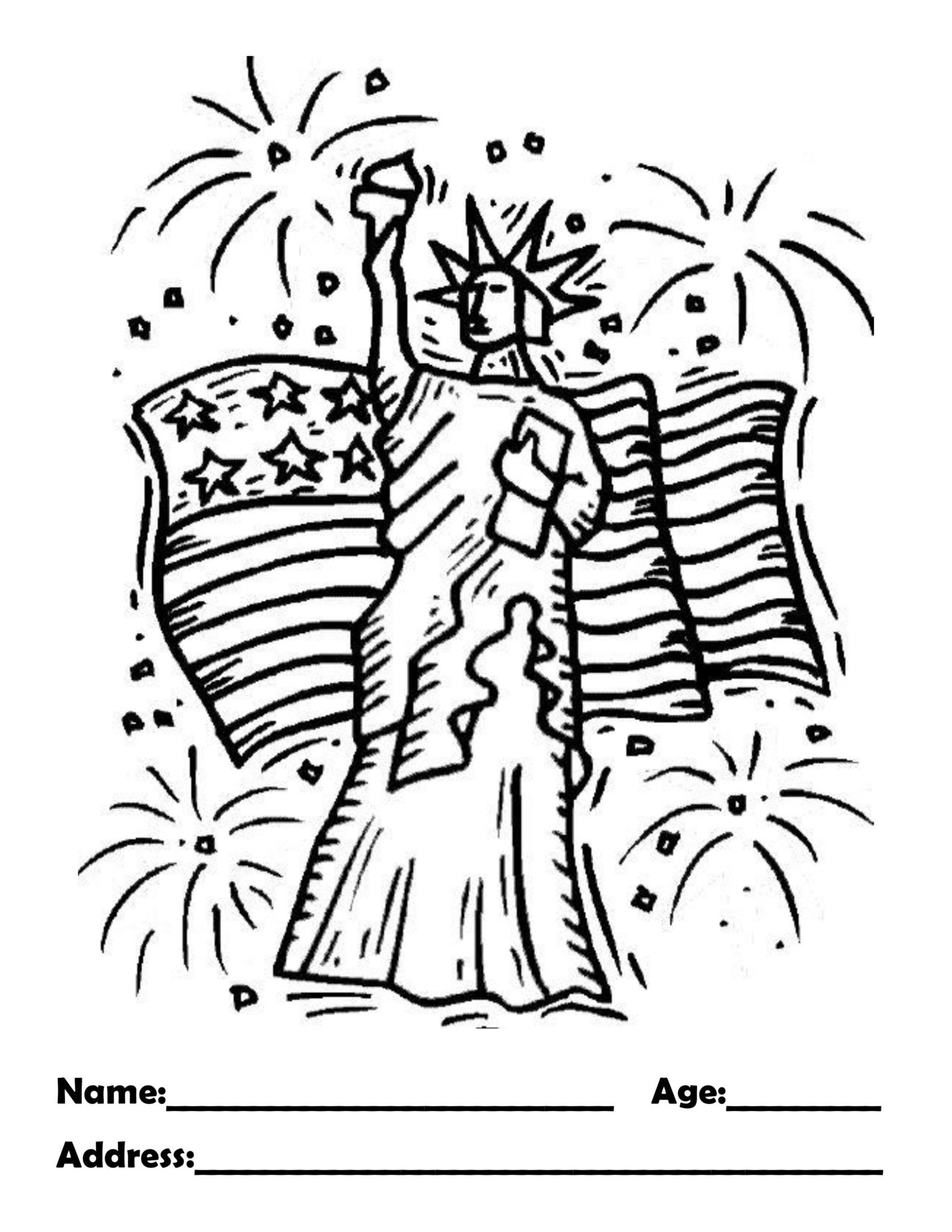 July Coloring Page!
