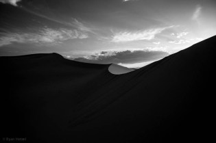 Sunset at Eureka Dunes, CA.