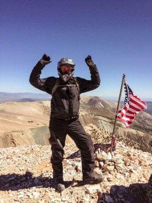Dave made the summit, Mt Patterson, CA