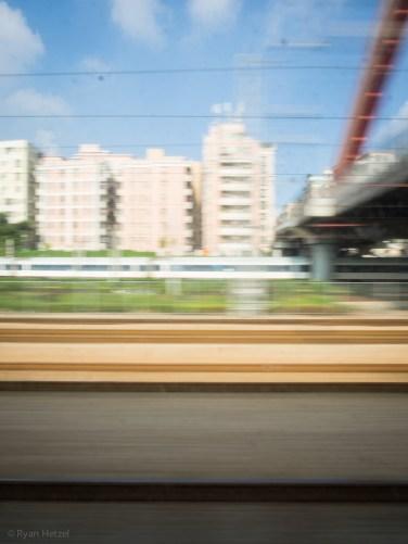 Train north to Guangdong, China.