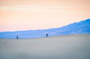 Sunrise at Mesquite sand dunes