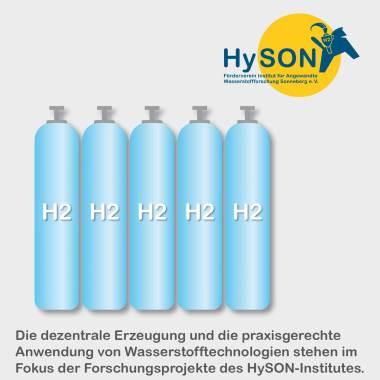 Bild Grafik mit Wasserstoffbehältern