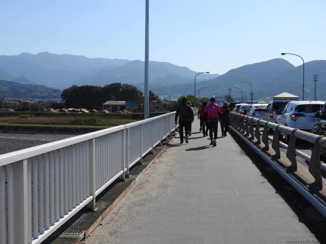重信川「愛媛チャリティ100km歩くぞなもし」100kmウォーキングに参加しました