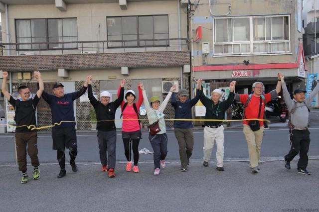 Bチームゴール「愛媛チャリティ100km歩くぞなもし」100kmウォーキングに参加しました