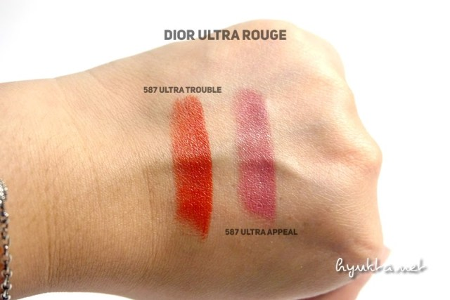 Dior Ultra Rouge Ultra Trouble and Ultra Appeal