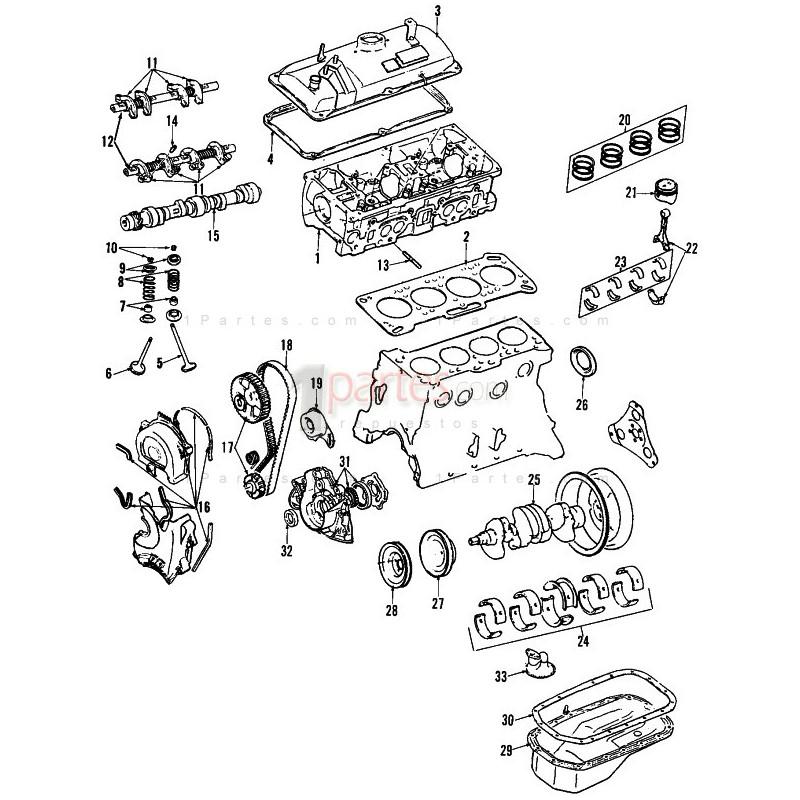 Piñón del cigüeñal|Hyundai|Excel|Scoupe|Accent|Dodge|Brisa