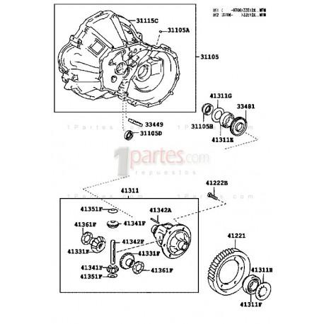 Rodamiento|Toyota|Corolla|Yaris|Celica|Rav4|Hyundai|Matrix