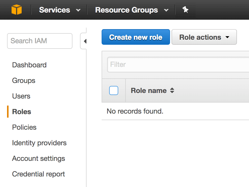 IAM Create Role Screenshot