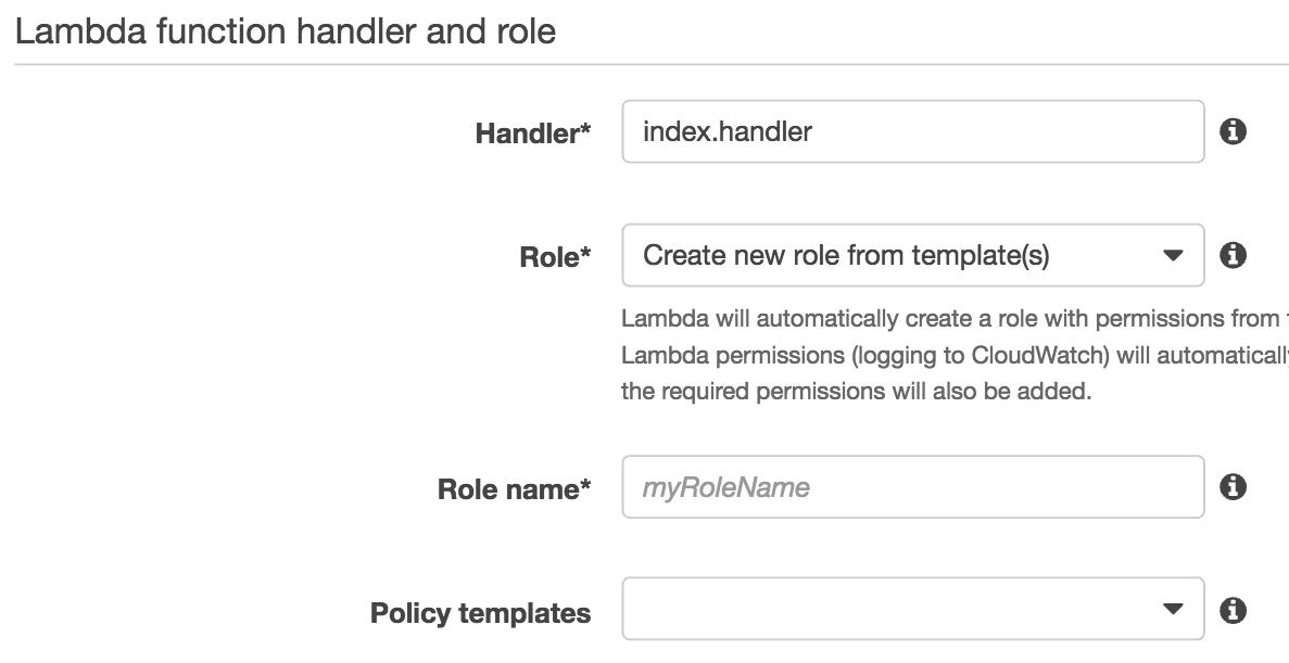 Lambda Role Screenshot
