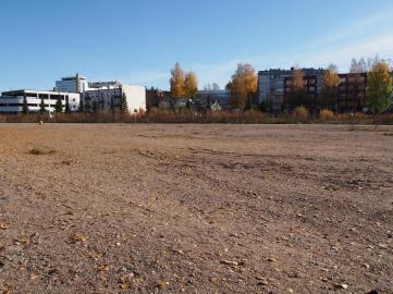 Näkymä vanhalta asemalta kohti keskustaa.