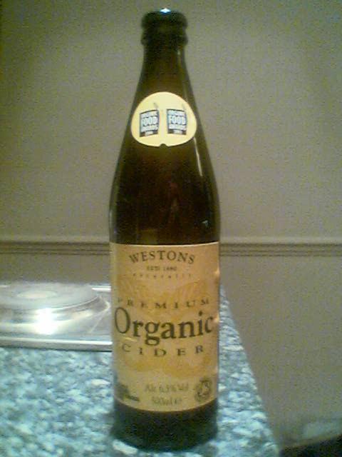 Westons Premium Organic Cider bottle