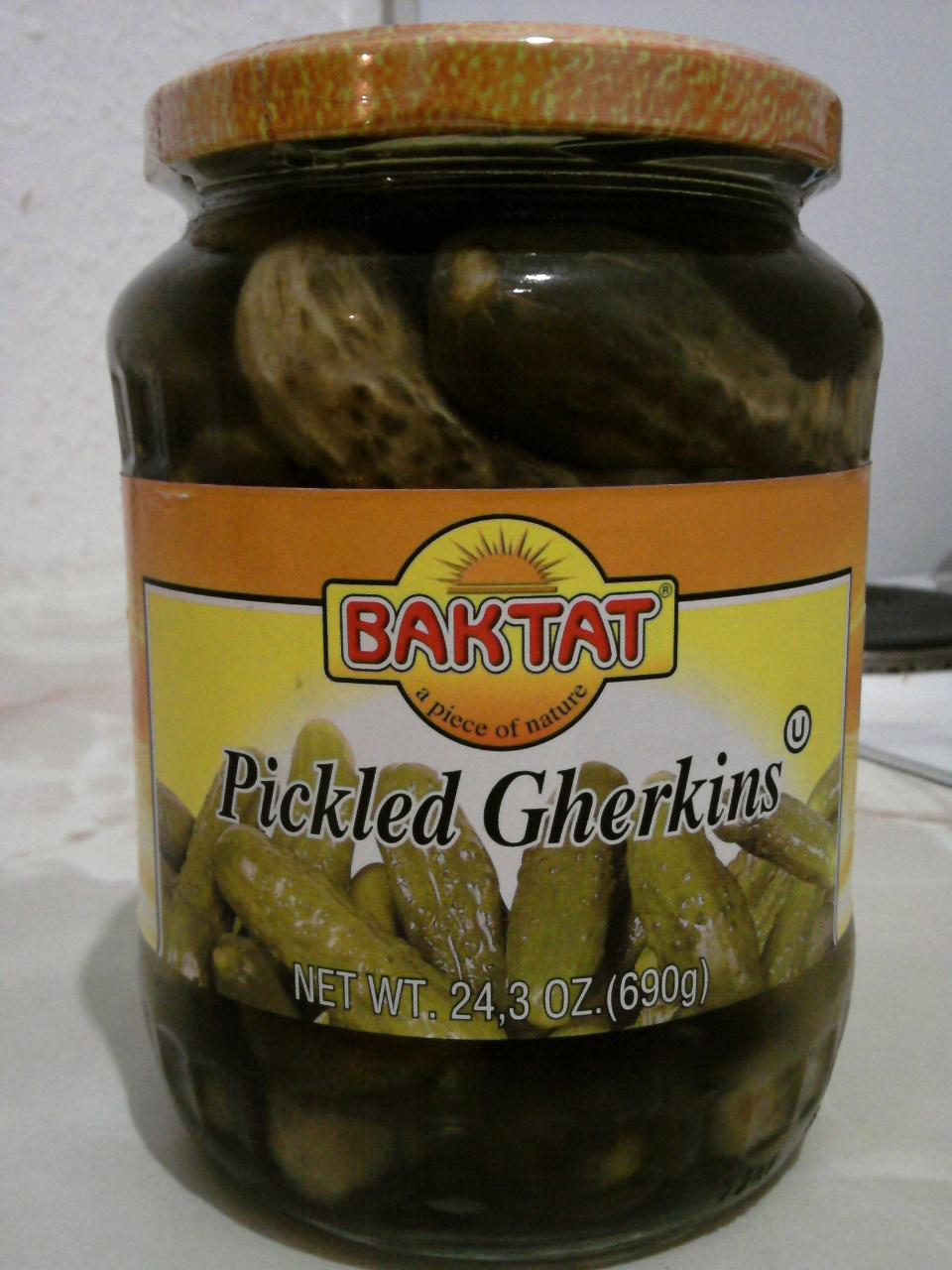 Baktat Pickled Gherkins jar