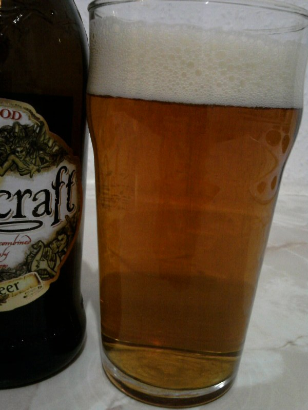 Wychwood Wychcraft Blonde Beer poured into a glass