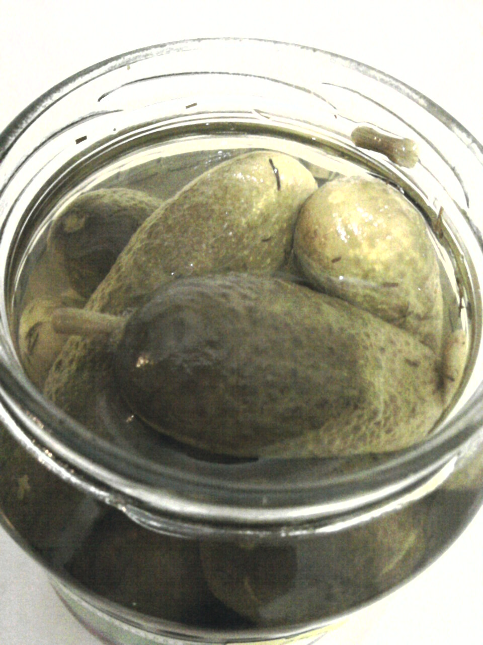 Wardour Pickled Sweet and Sour Gherkins open jar