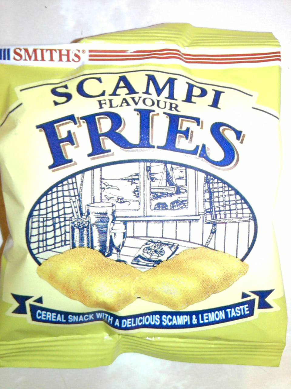 Smiths Scampi Flavour Fries front of bag