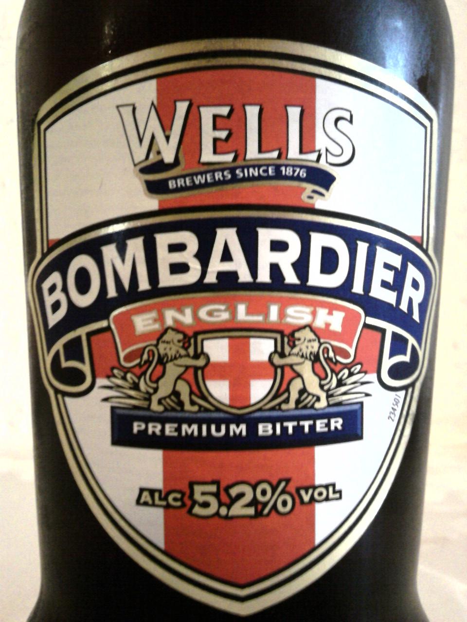 Wells Bombardier English Premium Bitter front label