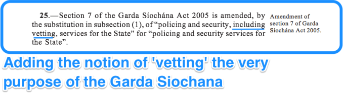 Section 25 of the vetting legislation