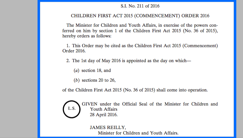 Children First Act 2015