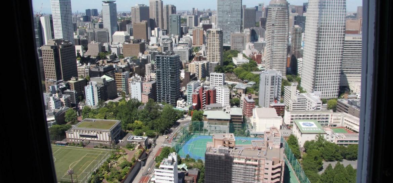 vue depuis tokyo tower