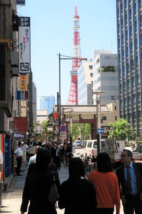 vue vers tokyo tower minato