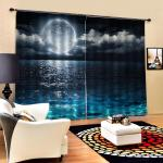 Details About 3d Effect Window Curtains Drapes For Living Room Bedroom Decorative 2 Panels