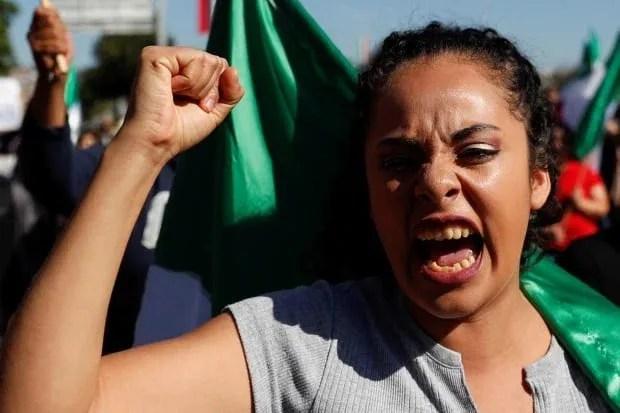 USA IMMIGRATION CARAVAN protest against migrants