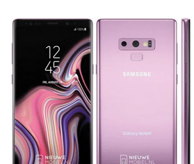 Press Render Leaks Revealing The Samsung Galaxy Note  In Lilac Purple