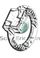 Drawing of the Sony Ericsson´s bracelet cell phone has