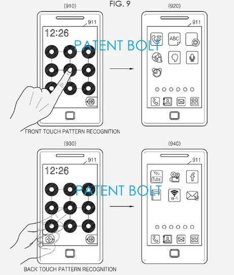 Samsung patents transparent screen, with front and back
