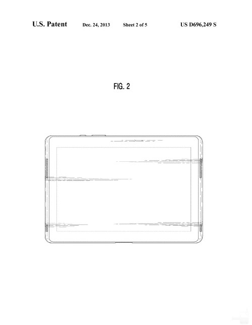 Samsung awarded a design patent for a vertically flexed