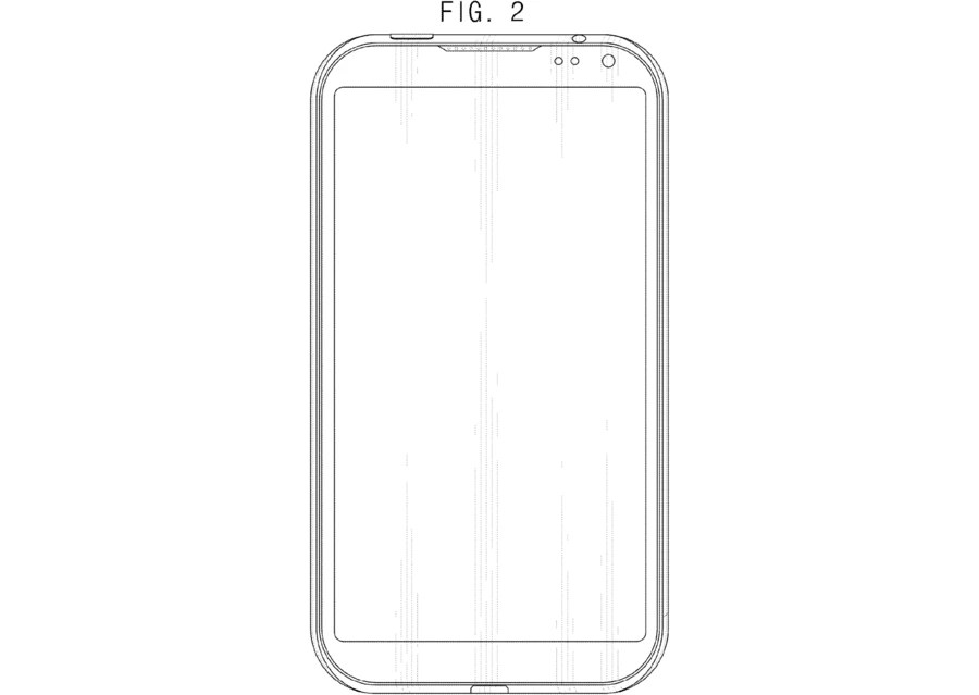 Samsung granted new design patent for a buttonless