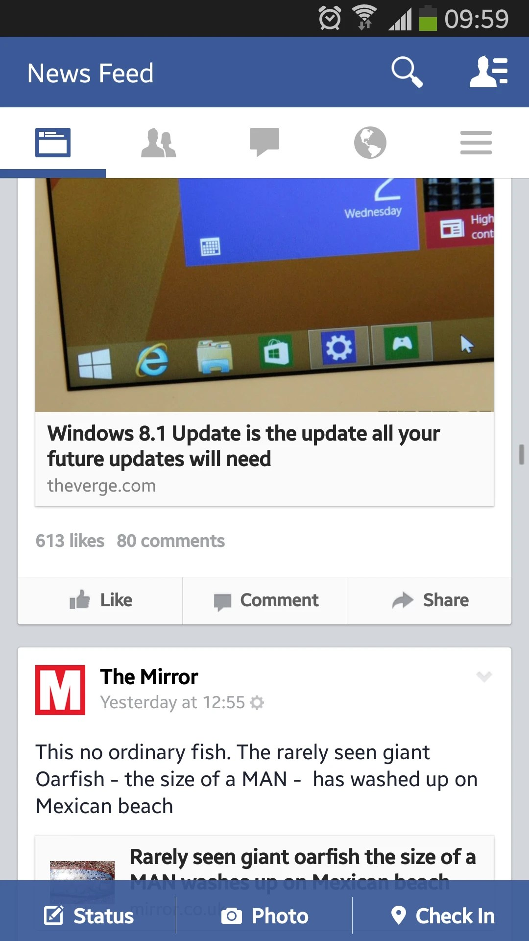 Facebook for Android receives the flat design treatment and an interface overhaul