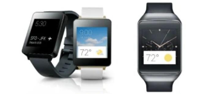 LG G Watch vs Samsung Gear Live: specs comparison