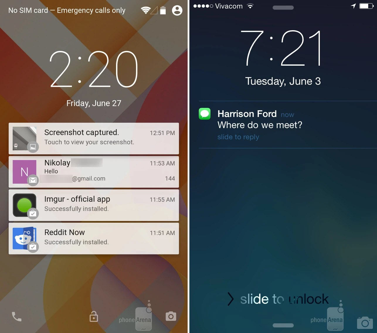 Iphone Lock Screen Wallpaper Slideshow Android L Vs Ios 8 First Look