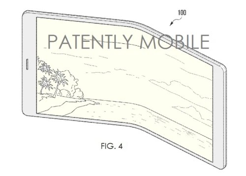 New Samsung patent illustrates a foldable smartphone display
