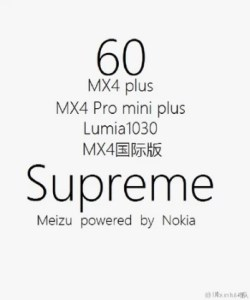 This poster has revived the rumor that Meizu and Nokia are working on a phone called the Meizu MX4 Supreme