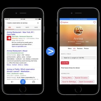 Google search results on the iPhone and iPad will soon include iOS apps