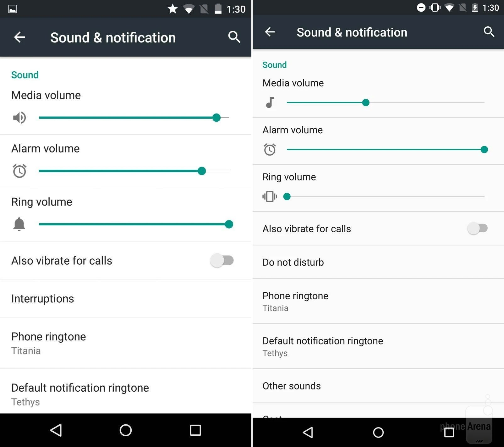 Sounds & notifications