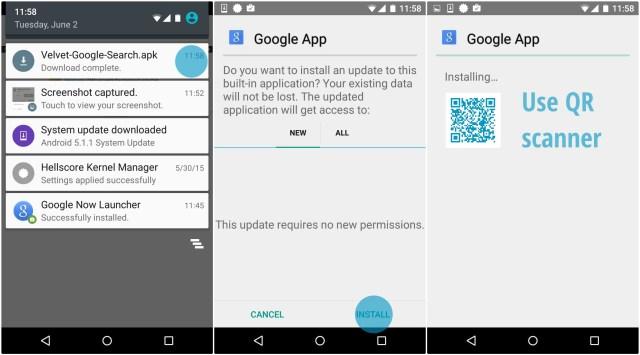 Install the Google App apk