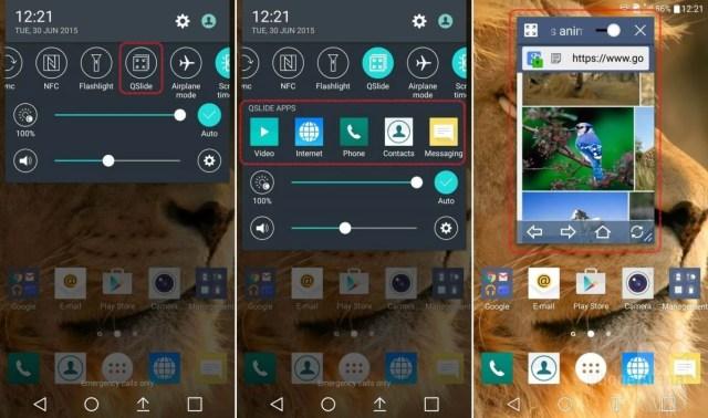 QSlide equals mini apps
