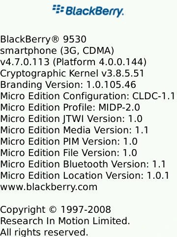 New leaked OS update for BlackBerry Storm 9530 and Curve